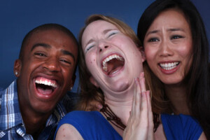 laughing threesome